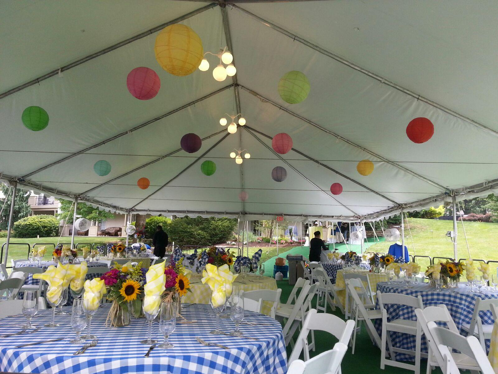 Discount on all Linens with frame tent reservation before April 15, 2015