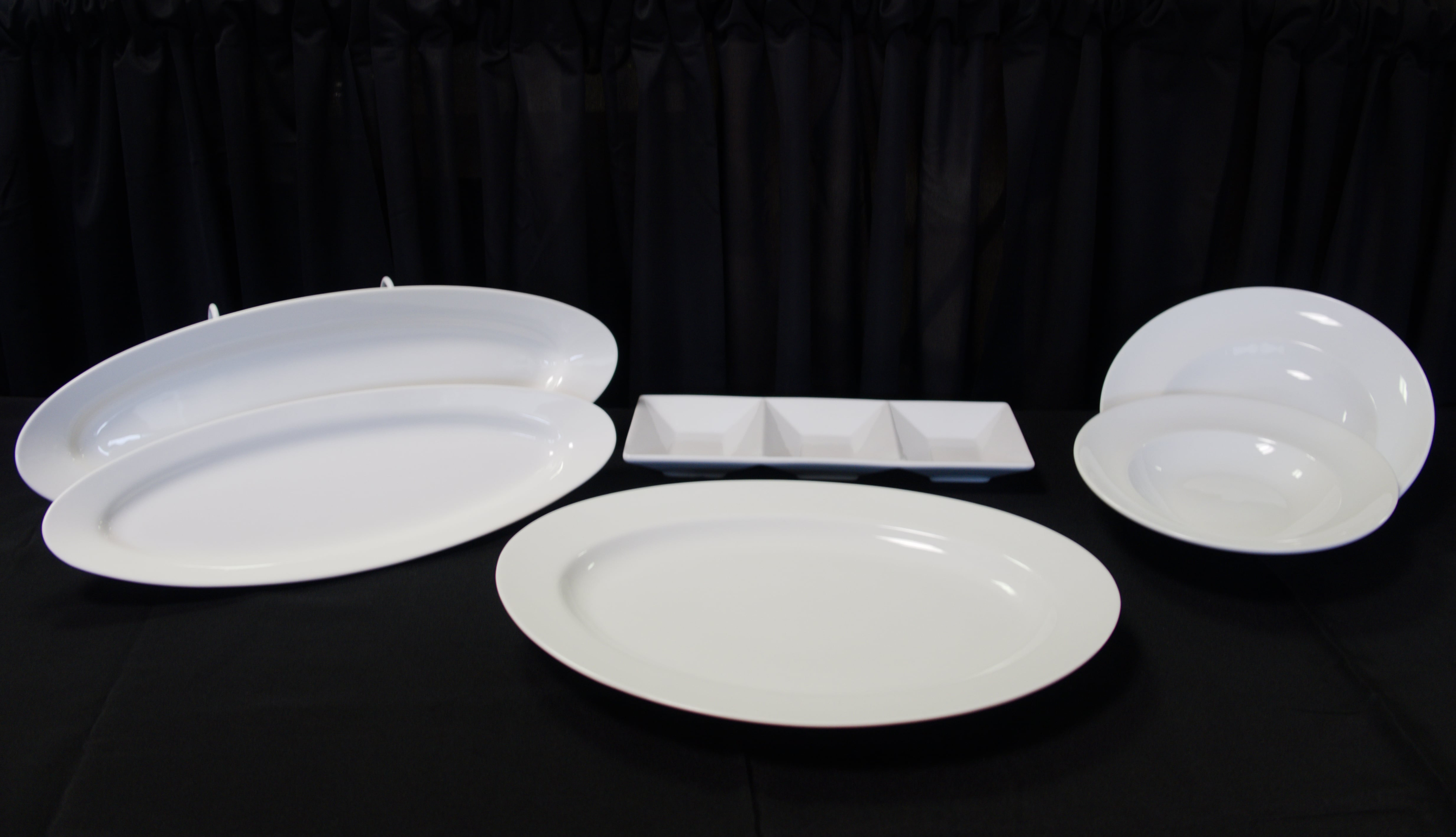 White Rim Platters